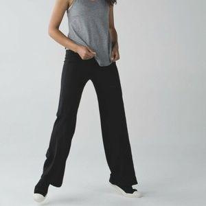 NWT LULULEMON STILLNESS Black Foldover Yoga Pants